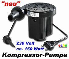 Elektro- Luftpumpe 230V / extra starke 150Watt für Luftbetten etc. 78086