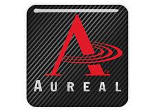 "Aureal 1""x1"" Chrome Domed Case Badge / Sticker Logo"