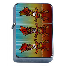 Tiki Statues D8 Windproof Dual Flame Torch Lighter Polynesian