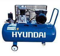 Compressore Aria 100 Litri Lubrificato 3 Hp Hyundai 656504 8 Bar A Cinghia