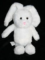 """Best Made Toys EASTER BUNNY RABBIT 8"""" White Pink Nose Plush Soft Toy 2012"""
