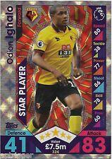 2016 / 2017 EPL Match Attax Base Card (324) Odion IGHALO Star Player Watford