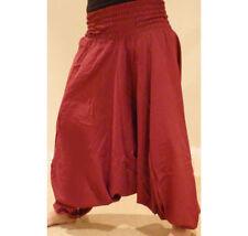 Harén Pantalones para Ali Baba Pantalones Aladino Afgano Genie Hippy Yoga Mono de algodón