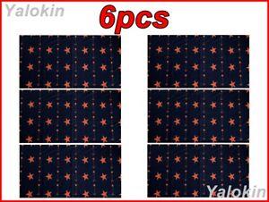6pcs Orange Stars Scarves Family Pack Elastic Print Neck Bandana Balaclava N194