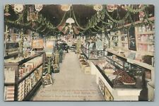 Candy Store Interior ROCK SPRINGS WY Antique Wyoming—Lloyd Fruit Curio 1910s