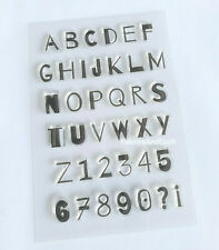 38 CAPITAL LETTERS/NUMBERS CLEAR STAMPS-ALPHABET-UPPER CASE TRANSPARENT SILICONE