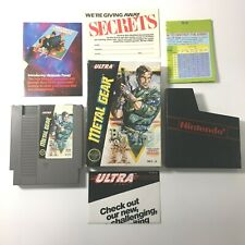 Metal Gear Nintendo Nes Game Complete Cib w/ Map Authentic Game Tested Works