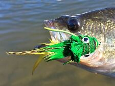 Fly Fishing Flies (Bass, Pike, Trout) Swimming Frog Yellow Belly (x 3)