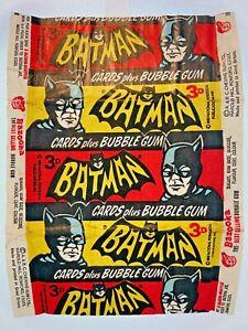 1966 Batman A&BC 3D SERIES A 'CARDS plus BUBBLE GUM' Vintage FLAWED Wax Wrapper