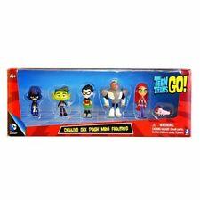 6Pcs Teen Titans Go Robin Action Figure Set Kids Toy Gift Beast Boy Robin Raven