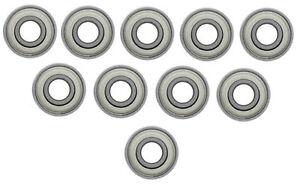 10er Pack Miniatur Kugellager 5 mm x 9 mm x 3 mm beidseitig Metalldeckscheiben