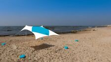 Large Beach Sun Shade 2.1m x 2.1m Canopy For 4 People White Rabbit Art Studio