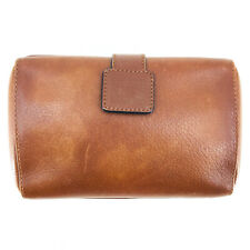 Authentic Vintage Burberry Structured Clutch Bag in Brown Leather