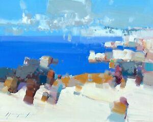 Pacific Coast,  Original Oil painting, Handmade artwork, One of a kind