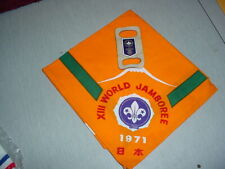 Boy Scout 13th World Jamboree(Japan) Participation Kerchief and Slide
