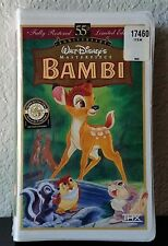 New!!! Walt Disney's Bambi VHS 55th Anniversary Edition Factory SEALED!
