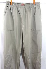 "NIKE XL 16 18 Women's TAN Khaki Quick Dry NYLON Wind PANTS Wide Legs 32"" inseam"