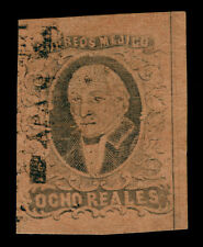 MEXICO 1861 HIDALGO  8r blk, red brown - APAM - district ovp. Sc# 11 used XF