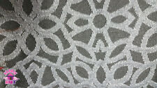 Home Decor Heavy Upholstery Black Silver Geometric Fabric by the Yard