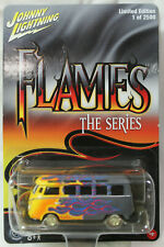 Johnny Lightning 1:64 Scale Flames Series 1960's VOLKSWAGEN SAMBA BUS