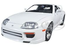 "BRIAN'S TOYOTA SUPRA WHITE ""FAST & FURIOUS 7"" MOVIE 1/18 DIECAST BY JADA 97509"