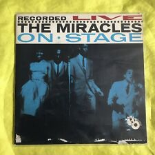 Recorded LIVE! On Stage THE MIRACLES 1963 TAMLA Records Yellow Globe Label 241