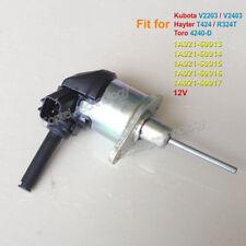 Fuel Shutoff Solenoid 1A021-60013 for Kubota V2203 V2403 Hayter T424 R324 Toro