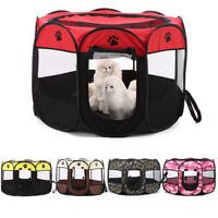 Oxford Cloth Portable Pet Puppy Soft Tent Playpen Dog Cat Folding Crate Fence