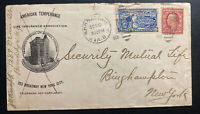 1909 Brooklyn NY USA Advertising Cover American Temperance Special Delivery