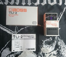 Boss tu-2 Chromatic Tuner voz efecto pedal effect Stompbox