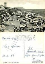 Cartolina di Porto Potenza Picena, spiaggia - Macerata, 1958