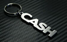 CASH Personalised Name Keyring Keychain Key Fob Bespoke Stainless Steel Gift