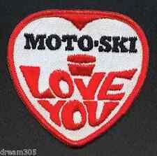 Vintage MOTO-SKI Snowmobile Patch Sled Rare! SkiDoo I LOVE YOU MOTOSKI !