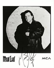 """MEAT LOAF  AUTOGRAPHED   8""""x10""""  B & W   REPRINT Photo"""