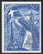 FSAT/TAAF 1969 Antarctic Treaty/Eiffel Tower/Ship/Conservation 1v (n27836d)