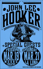 JOHN LEE HOOKER 1993 Original Portland and Seattle Concert Poster