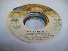 Soul Unplayed Nm! 45 Donna Summer Winter Melody on Casablanca