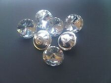50 x 25mm Diamante/Diamond/Crystal Clear Upholstery Headboard Buttons free post