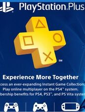 SONY PlayStation Plus 3 Month Membership (prepaid game card) Ps4 Games On line