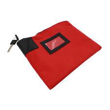 BISupply | Locking Money Bag Lock Bag Bank Bag with Lock Cash Bag in Red