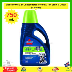 Bissell 2x Concentrated Formula, Pet Stain And Odour, 750ml (1 Bottle) FREE SHIP