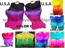 *USA STORE*  FAST, QUICK SHIP ! BELLY DANCE  SILK  FAN VEILS 1.8m Top Quality !