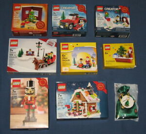 Lego CHRISTMAS Holiday Winter Lot 8 NEW NIB 40139 40254 40083 3300014 3300020