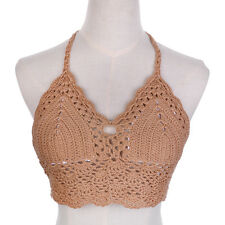 Beach Women Crochet Lace Bralette Knit Bra Sexy Bikini Vest Cami Tank Crop Top