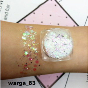 Mermaid Sequin Gel Holographic Sequins Glitter Shimmer Diamond Eye Shadow MakeUP