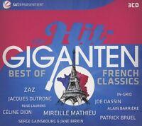 DIE HIT GIGANTEN BEST OF FRENCH CLASSICS (Joe Dassin, Zaz, Céline Dion)3 CD NEW+