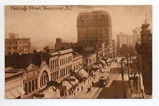 CANADA carte postale ancienne VANCOUVER hastings street