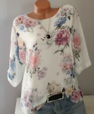ITALY große Gr.46,48,50, Shirt,Longshirt,Tunika,Bluse,Blumen Muster,Oversize,NEU