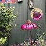 Rust Resistant Pink Coneflower Standing Bird Feeder Garden Yard Decoration US