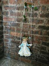 More details for swinging haunted porcelain doll vessel violet negative energy